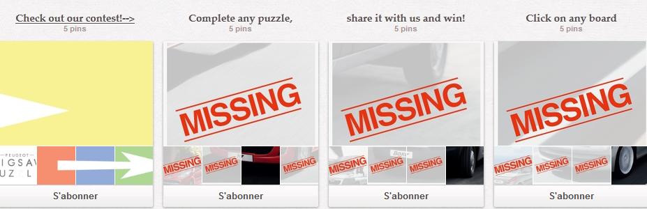 Concours Puzzle sur Pinterest