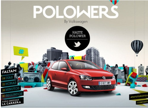 Concours sur Twitter VW, polowers