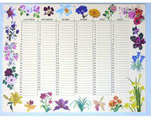 calendrier-d-anniversaire-decor-fleurs