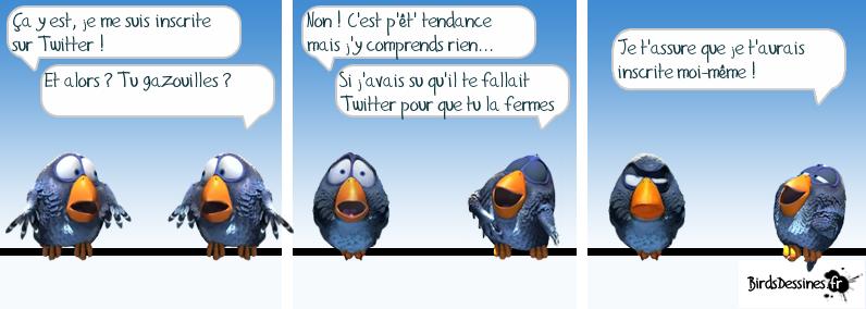 Gazouillis et Twitter