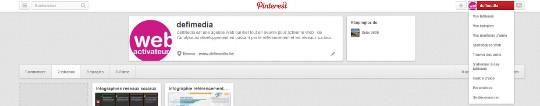 Paramètres de Pinterest