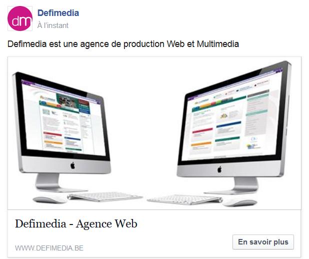 publicité facebook clic sur un site Web